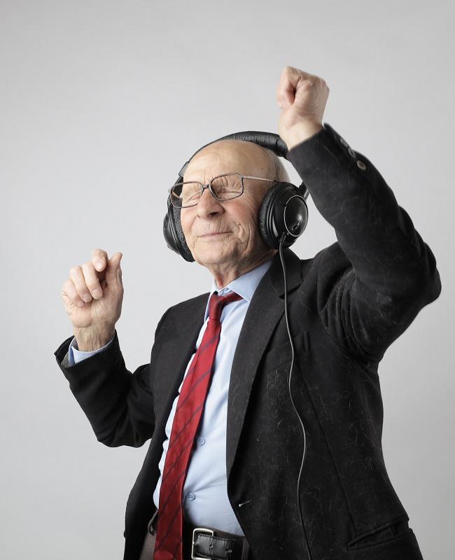 Happy senior free from pain